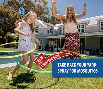 Take Back Your Yard: Spray for Mosquitos